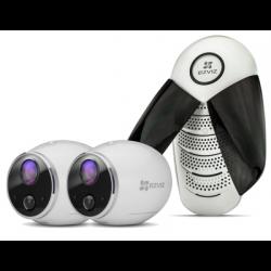 Ezviz. Набор Базовая станция + 1MP Wi-Fi камера на батарейках Mini Trooper набор 2