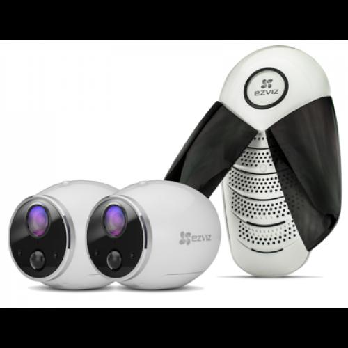 Ezviz. Набор Базовая станция + 1MP Wi-Fi камера на батарейках Mini Trooper набор 1