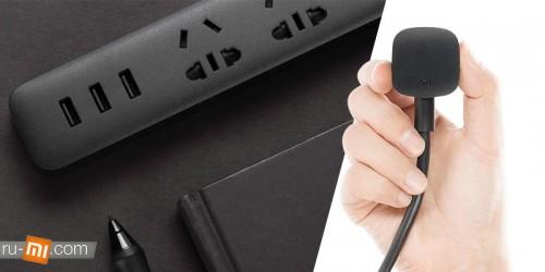 Xiaomi. Удлинитель Mi Smart Power Strip (3 розетки, 3 USB, белый) (QMCXB01ZN)