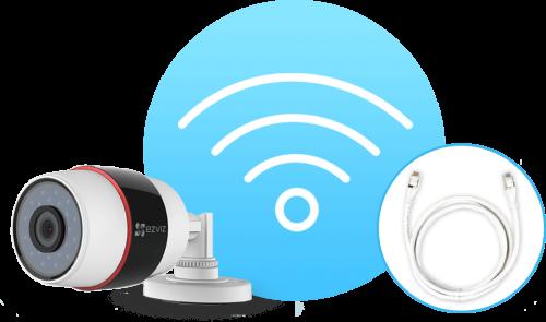 Ezviz. 2Мп внешняя Wi-Fi камера C3S (PoE)