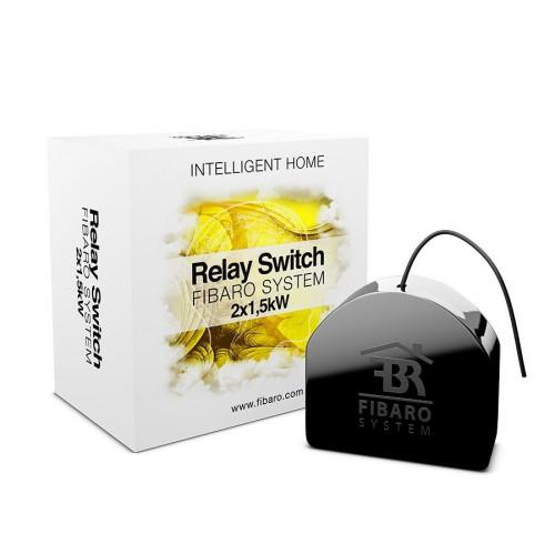 Fibaro. Реле двухканальное встраиваемое Fibaro Relay Switch FIBEFGS-222 (FIB_FGS-221)